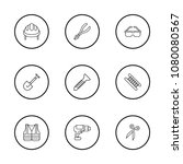 industry tool icons set with... | Shutterstock .eps vector #1080080567