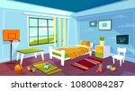 child room vector illustration... | Shutterstock .eps vector #1080084287