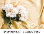 plastic rose on fabric... | Shutterstock . vector #1080094457