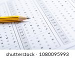 test score sheet with answers | Shutterstock . vector #1080095993