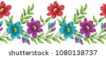 seamless vector flower border... | Shutterstock .eps vector #1080138737