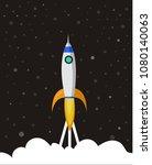 space ship vector icon   Shutterstock .eps vector #1080140063