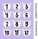 monthly baby stickers in the... | Shutterstock .eps vector #1080147623