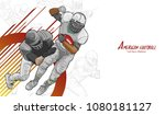 american football background... | Shutterstock .eps vector #1080181127