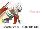 american football background... | Shutterstock .eps vector #1080181133