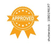 certified medal icon. approved... | Shutterstock .eps vector #1080198197