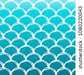 mermaid tail on trendy gradient ... | Shutterstock .eps vector #1080220043
