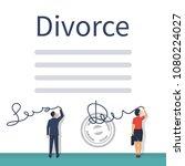 divorce concept. meeting... | Shutterstock .eps vector #1080224027