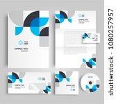 corporate identity design... | Shutterstock .eps vector #1080257957