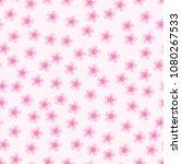 cherry blossom. seamless...   Shutterstock .eps vector #1080267533