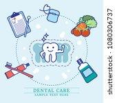 dental care instruction concept ... | Shutterstock .eps vector #1080306737