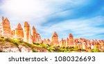 love valley. goreme  cappadocia ... | Shutterstock . vector #1080326693