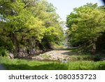 the stream of green valley is...   Shutterstock . vector #1080353723