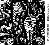 wild animals. stylized wild... | Shutterstock .eps vector #1080361787