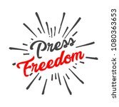 world press freedom  day poster | Shutterstock .eps vector #1080363653