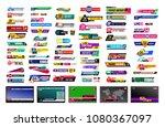 set of tv news bars. design...   Shutterstock .eps vector #1080367097