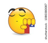 proud chilean emoji isolated... | Shutterstock .eps vector #1080380087