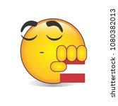 proud peruvian emoji isolated... | Shutterstock .eps vector #1080382013
