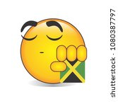 proud jamaican emoji isolated... | Shutterstock .eps vector #1080387797