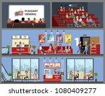 cinema building interior with... | Shutterstock .eps vector #1080409277