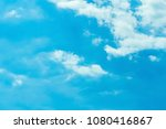 the sky is blue  the clouds are ... | Shutterstock . vector #1080416867