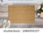 blank coir doormat before the... | Shutterstock . vector #1080450197