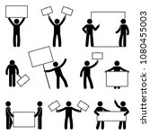 stick figure join protest set.... | Shutterstock . vector #1080455003