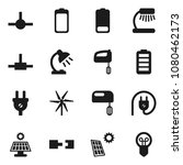 flat vector icon set   table... | Shutterstock .eps vector #1080462173