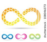 vector illustration of infinity ... | Shutterstock .eps vector #108046373