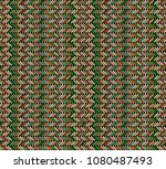 tribal multicolored herringbone ... | Shutterstock .eps vector #1080487493