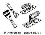 tools for applying venetian... | Shutterstock .eps vector #1080550787
