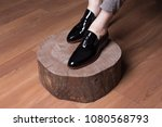 man shoes  classic man shoes at ... | Shutterstock . vector #1080568793