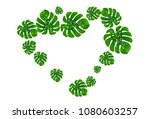 vector summer tropical pattern... | Shutterstock .eps vector #1080603257