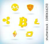 cryptocurrency icons set.... | Shutterstock .eps vector #1080616253