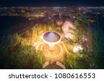 barcelona night view from...   Shutterstock . vector #1080616553