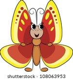 cute cartoon butterfly.vector...