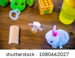 pacifier with toys | Shutterstock . vector #1080662027