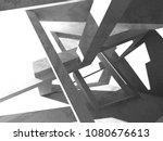 concrete architecture...   Shutterstock . vector #1080676613