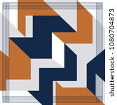 silk scarf with a geometric... | Shutterstock .eps vector #1080704873