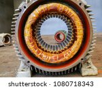 electric motor stator with... | Shutterstock . vector #1080718343