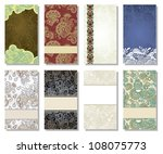 collection of colorful floral... | Shutterstock . vector #108075773