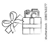 gift with camera photographic | Shutterstock .eps vector #1080763277