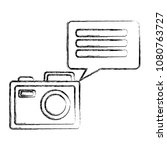 camera photographic with speech ... | Shutterstock .eps vector #1080763727