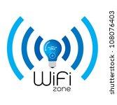 vector wireless icon | Shutterstock .eps vector #108076403