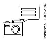 camera photographic with speech ... | Shutterstock .eps vector #1080765803
