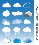 Clouds vector set - stock vector