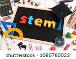 stem education. science... | Shutterstock . vector #1080780023