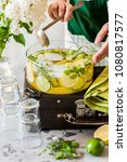 Small photo of Fresh Lemon, Lime, Thyme and Melissa Lemonade
