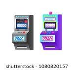 slot machine in casino ... | Shutterstock .eps vector #1080820157