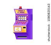 slot machine in casino ... | Shutterstock .eps vector #1080820163